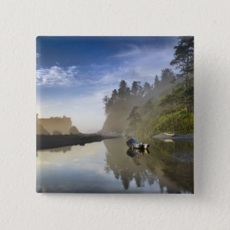 Sunset at Ruby Beach, Olympic National Park, 15 Cm Square Badge