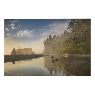 Sunset at Ruby Beach, Olympic National Park, Wood Prints