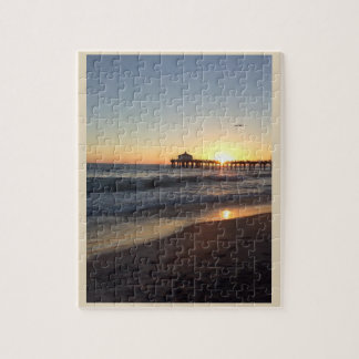 Sunset at Santa Monica pier Jigsaw Puzzle