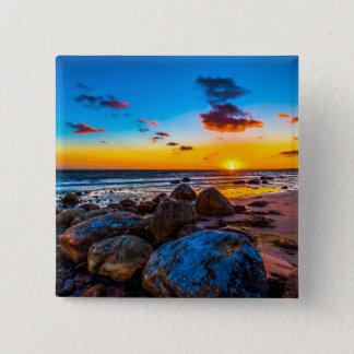 Sunset At Sea 15 Cm Square Badge