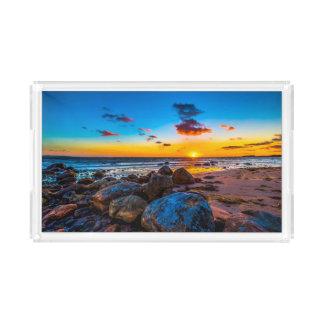 Sunset At Sea Acrylic Tray