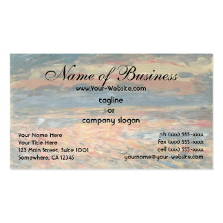 Sunset at Sea by Pierre Auguste Renoir Pack Of Standard Business Cards