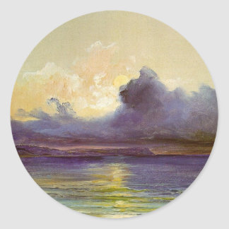 Sunset at Sea Classic Round Sticker