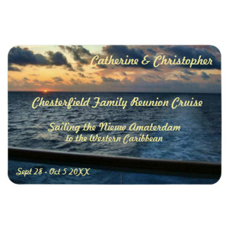 Sunset at Sea Custom Stateroom Door Marker Magnet
