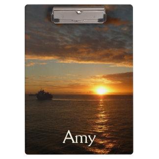Sunset at Sea II Tropical Seascape Clipboard