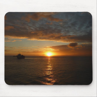 Sunset at Sea IV Tropical Seascape Mouse Pad