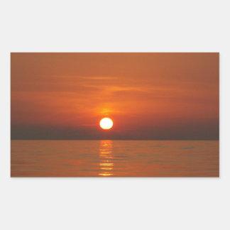 Sunset At Sea Rectangular Sticker