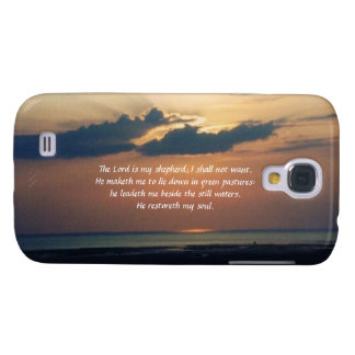 Sunset at Sea-Scripture/Psalm 23 Galaxy S4 Case