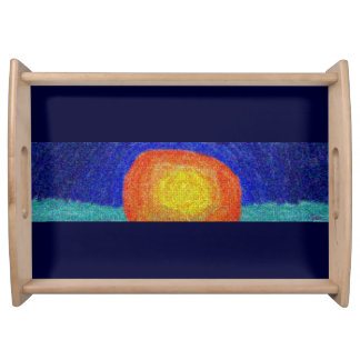 Sunset at Sea Serving Tray