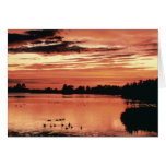 Sunset at Seney National Wildlife Refuge Greeting Card