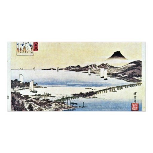 Sunset At Seta By Hiroshige Utagawa (Best Quality) Photo Cards