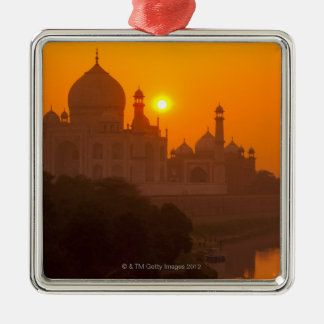 Sunset at Taj Mahal Christmas Ornament