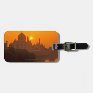 Sunset at Taj Mahal Luggage Tag