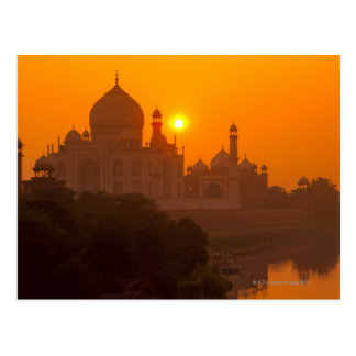 Sunset at Taj Mahal Postcard