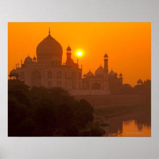 Sunset at Taj Mahal Posters