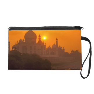 Sunset at Taj Mahal Wristlet