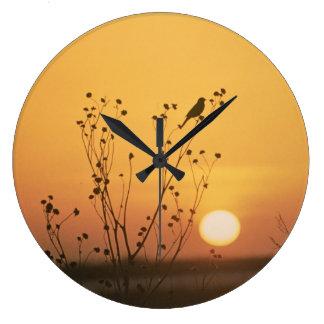 Sunset at Tewaukon National Wildlife Refuge Large Clock