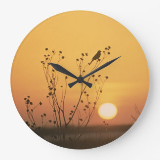 Sunset at Tewaukon National Wildlife Refuge Wall Clock