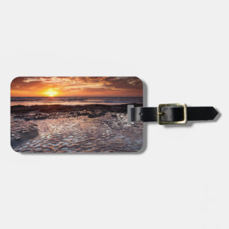 Sunset at the beach, California Luggage Tag