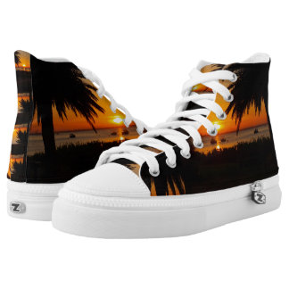 Sunset at the beach high tops