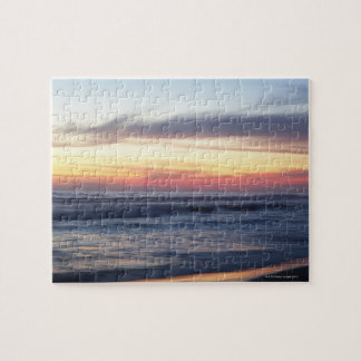Sunset at the beach jigsaw puzzle