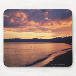 Sunset at the beach mouse mat