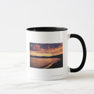 Sunset at the beach mug