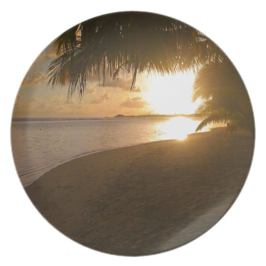 Sunset at the beach plate