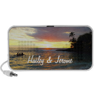 Sunset at the Beach Notebook Speaker