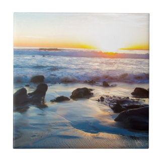 Sunset at the Beach Tile