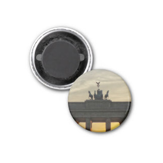 Sunset at the Brandenburg Gate, Berlin 3 Cm Round Magnet