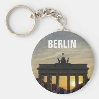 Sunset at the Brandenburg Gate, BERLIN Basic Round Button Key Ring