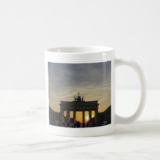 Sunset at the Brandenburg Gate, Berlin Basic White Mug