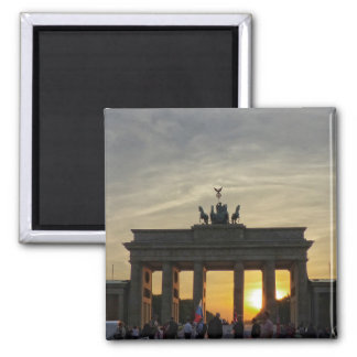 Sunset at the Brandenburg Gate, Berlin Square Magnet