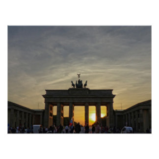 Sunset at the Brandenburg gate, Berlin Poster