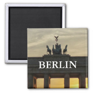 Sunset at the Brandenburg Gate, Berlin Square Magnet
