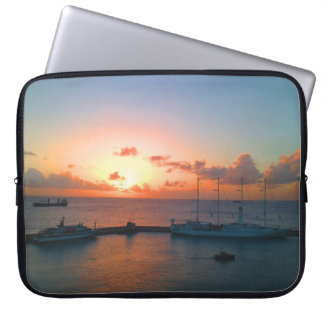 Sunset At The Docks Laptop Sleeve