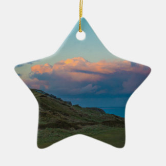 Sunset at the Great Orme Ceramic Star Decoration