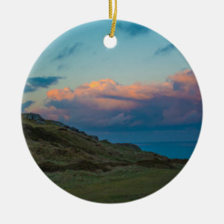 Sunset at the Great Orme Round Ceramic Decoration