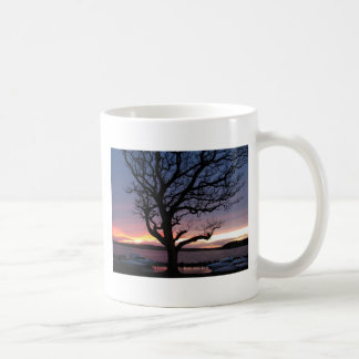 Sunset at the Harbor Basic White Mug