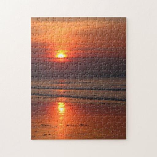 Sunset at the Irish Sea Puzzle Jigsaw Puzzles
