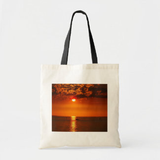 Sunset at the Lake Constance Tote Bag