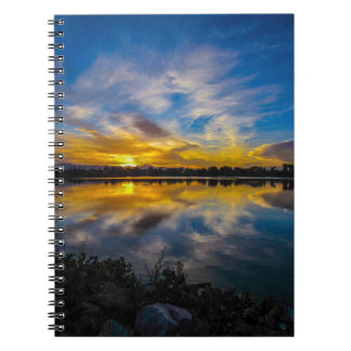 Sunset At The Lake Notebook