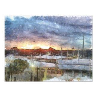 Sunset at the Marina Art Photo