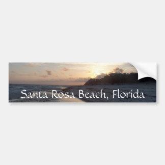 Sunset at the pass, Santa Rosa Beach, Florida Car Bumper Sticker