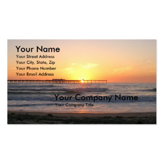 Sunset at the Pier Pack Of Standard Business Cards
