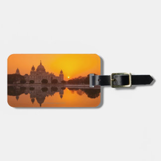 Sunset at the Victoria Memorial Luggage Tag