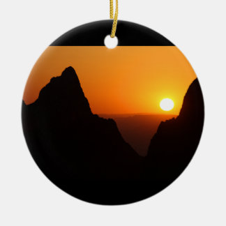 Sunset at the Window Christmas Ornament