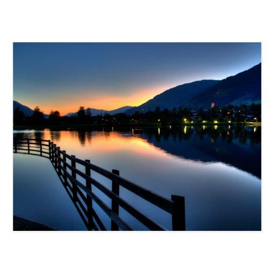 Sunset at Uttendorfer See Postcard
