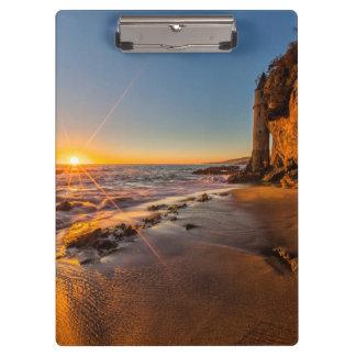 Sunset at Victoria Beach 2 Clipboard